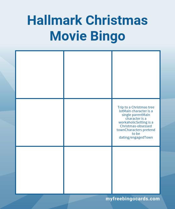 Free printable movie bingo cards