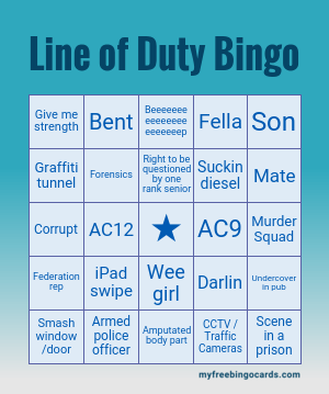 Line Of Duty Bingo