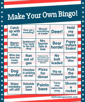 make your own bingo card