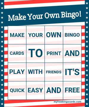 Free Custom Bingo Card Generator