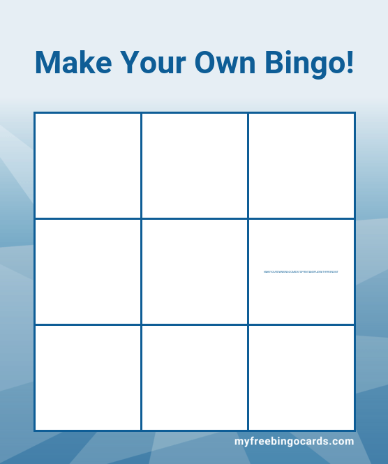 Making Your Own Bingo Game