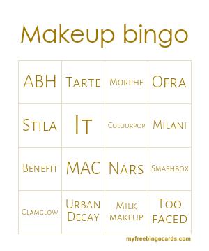 Makeup Bingo