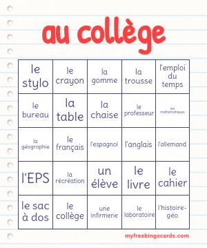 Au College Bingo