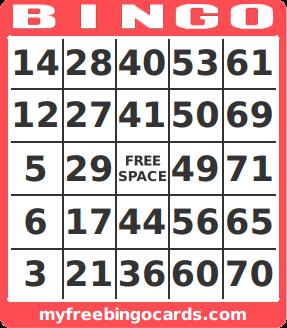 1-90 bingo card generator