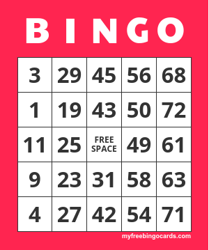 1-75 Number Bingo Cards Printable and Mobile
