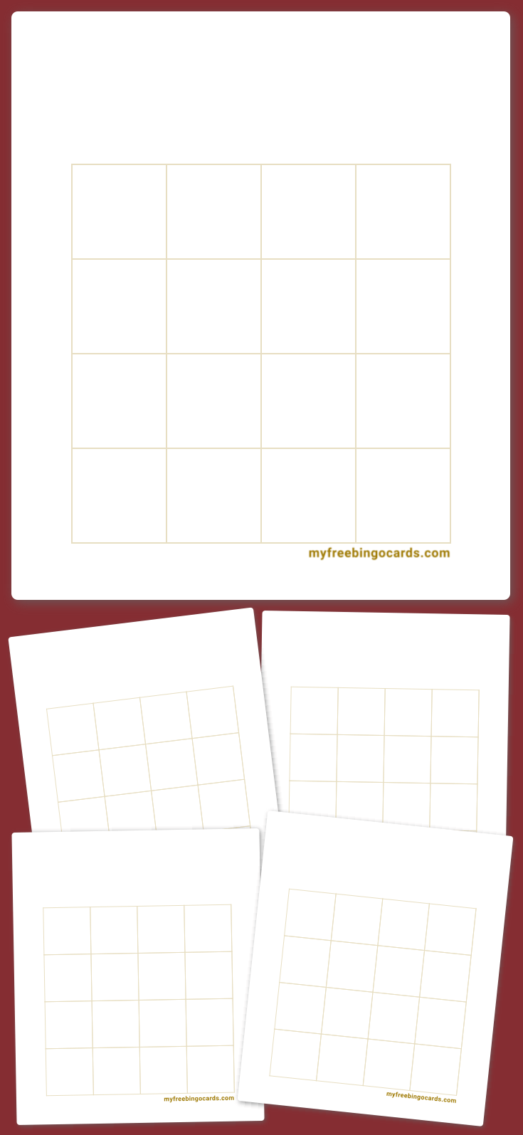 Gold Bingo Template