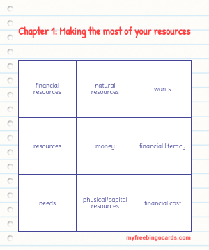 Bingo Card Preview