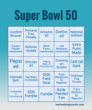 Super Bowl 50 Bingo