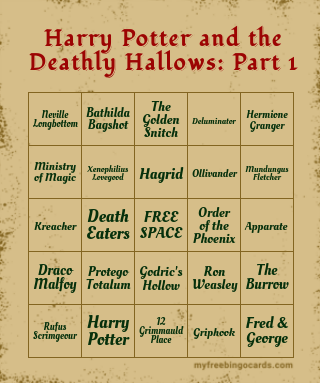 Harry Potter and the Deathly Hallows… Bingo