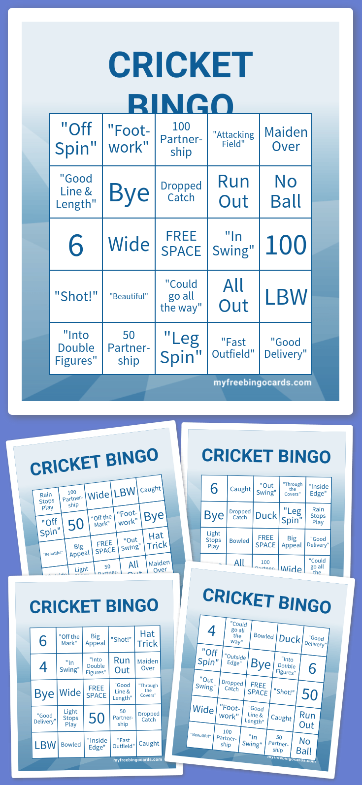 Play Cricket Bingo