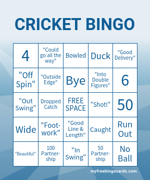 CRICKET BINGO