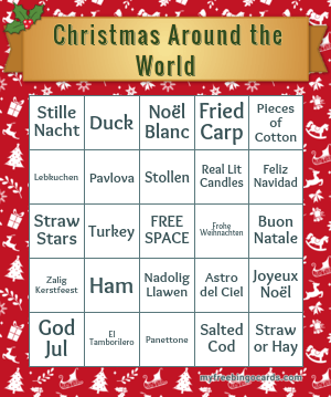 Christmas Around the World Quiz Bingo