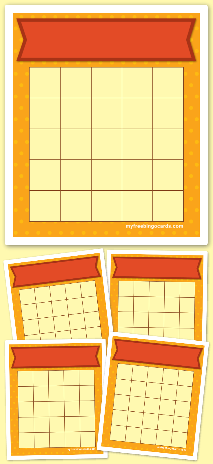 Thanksgiving Bingo Template