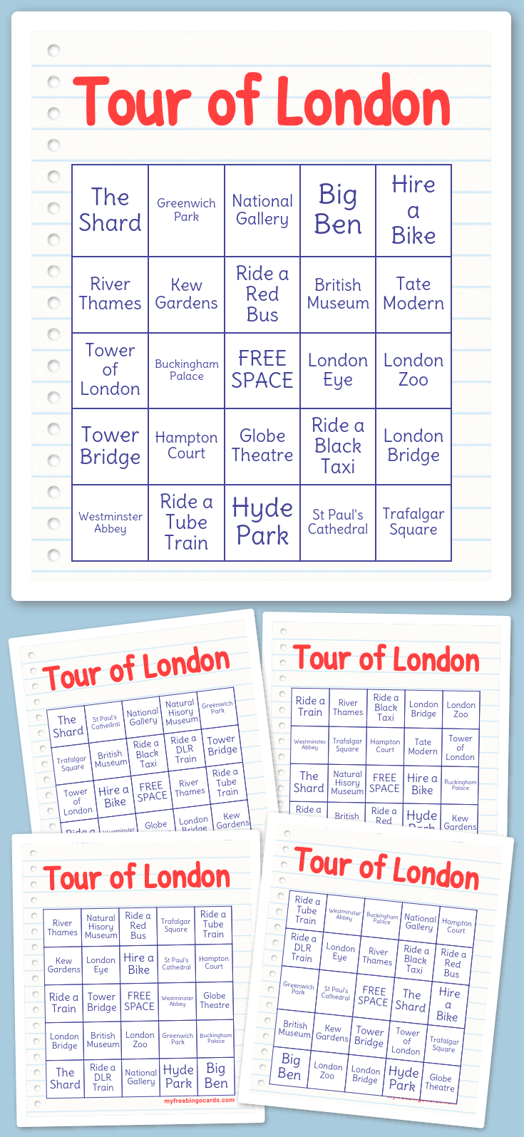 Tour of London Bingo