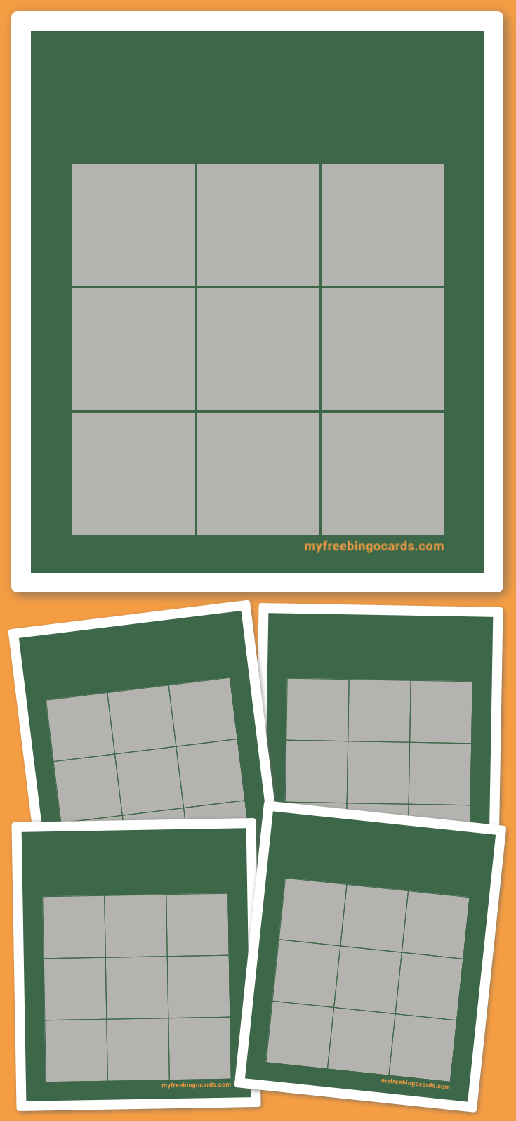 Green Bingo Template