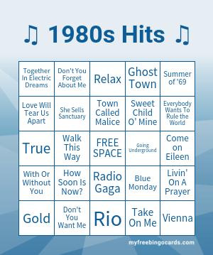 Musical bingo game free