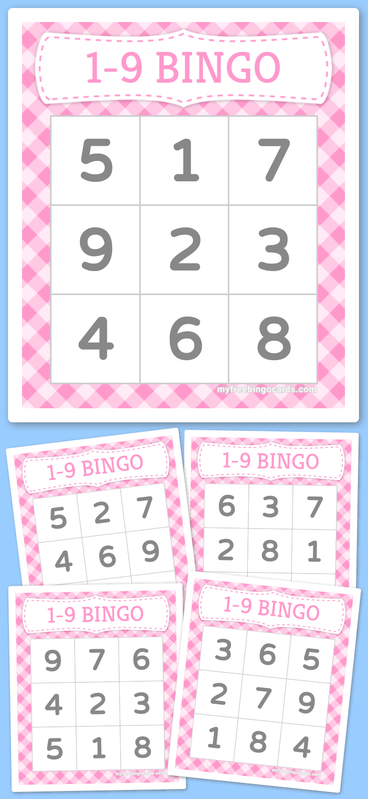 Kids 1-9 Number Bingo