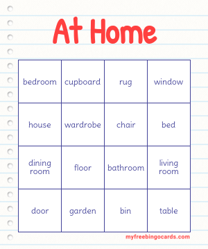 At Home Bingo