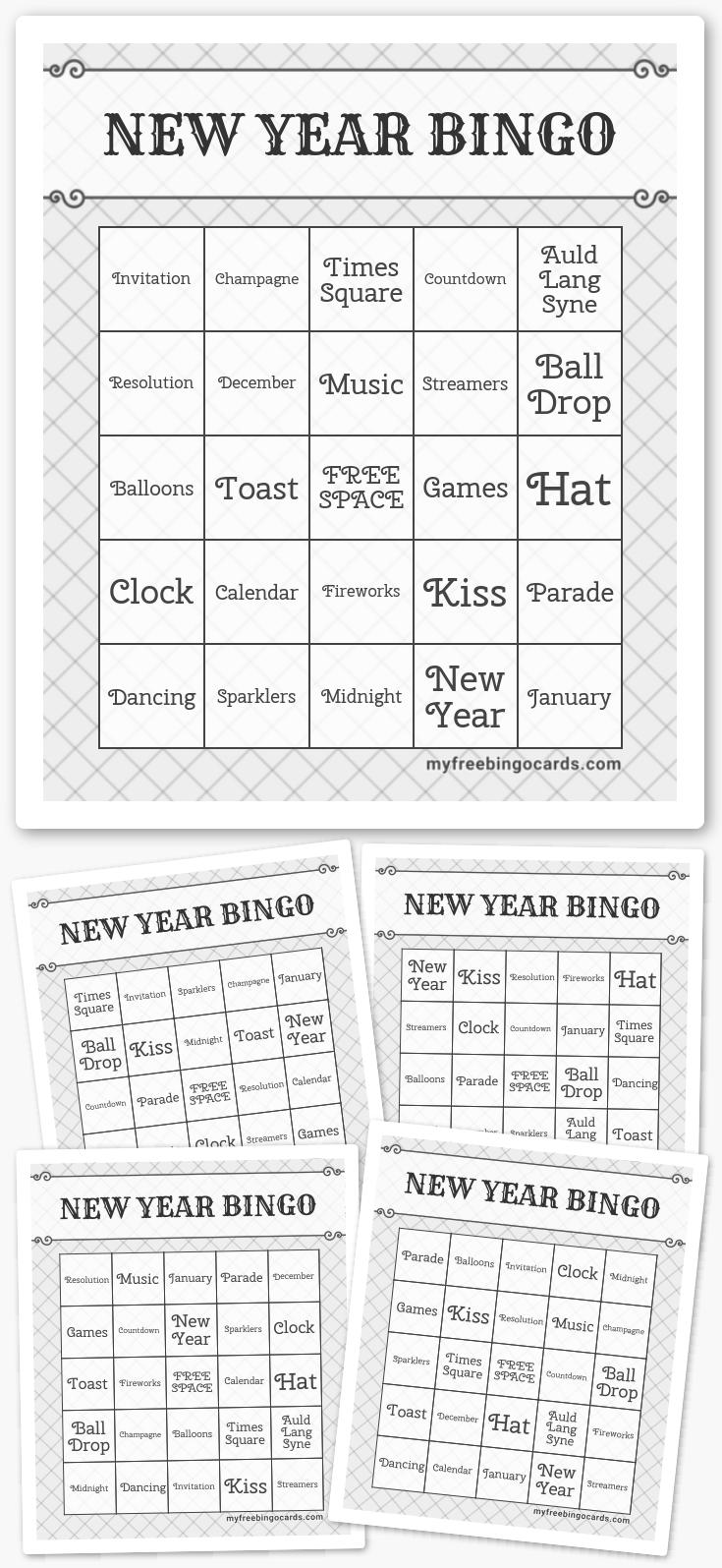 New Year Bingo
