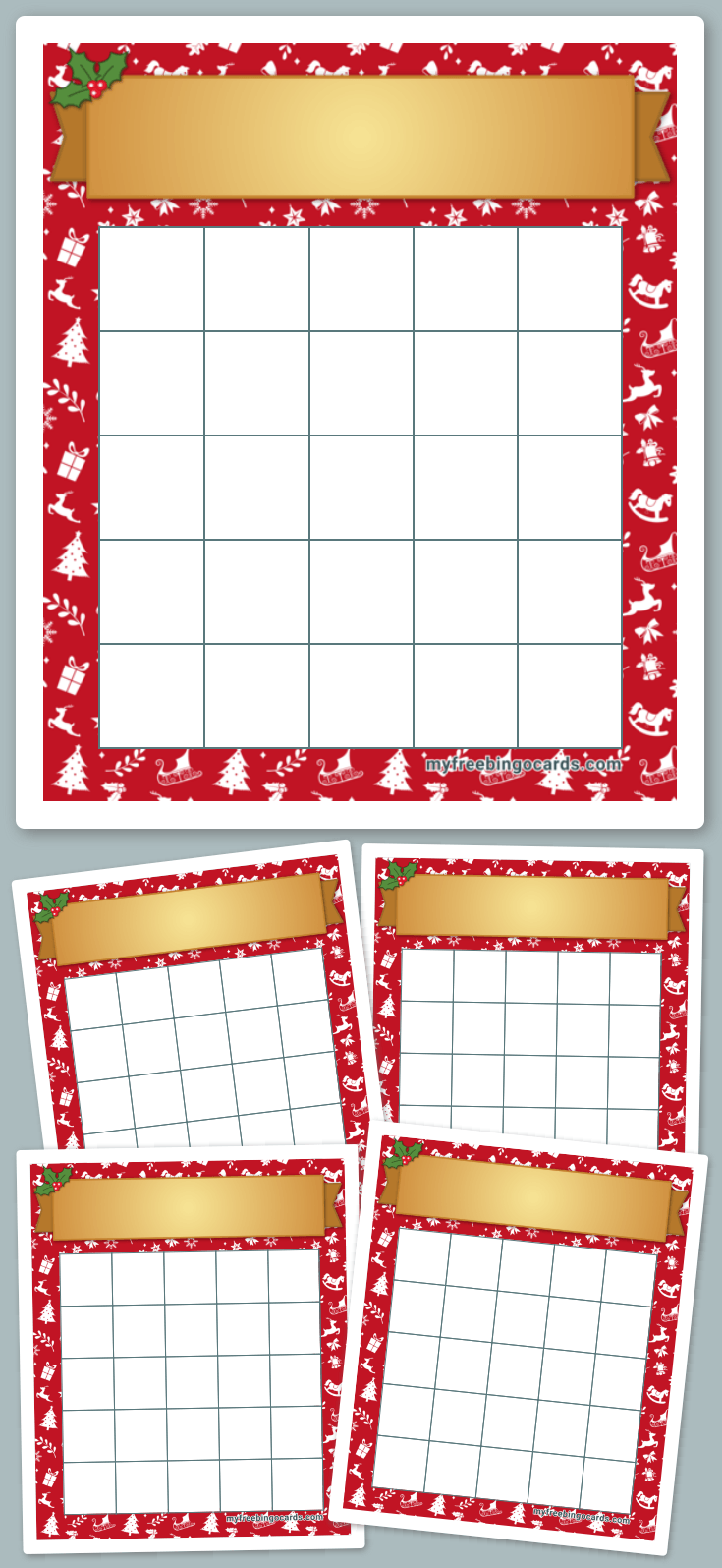 Christmas Bingo Template