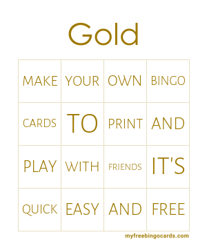 Gold Bingo Theme