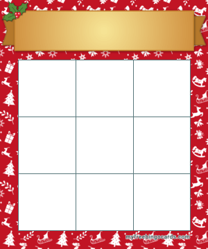 3x3 Christmas Bingo Card Template