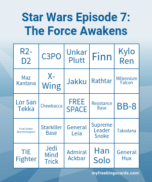 The Force Awakens Bingo
