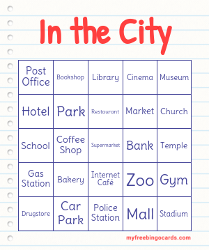 In the City Bingo