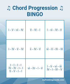 ♫ Chord Progression ♫BINGO