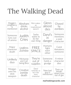 The Walking Dead Bingo