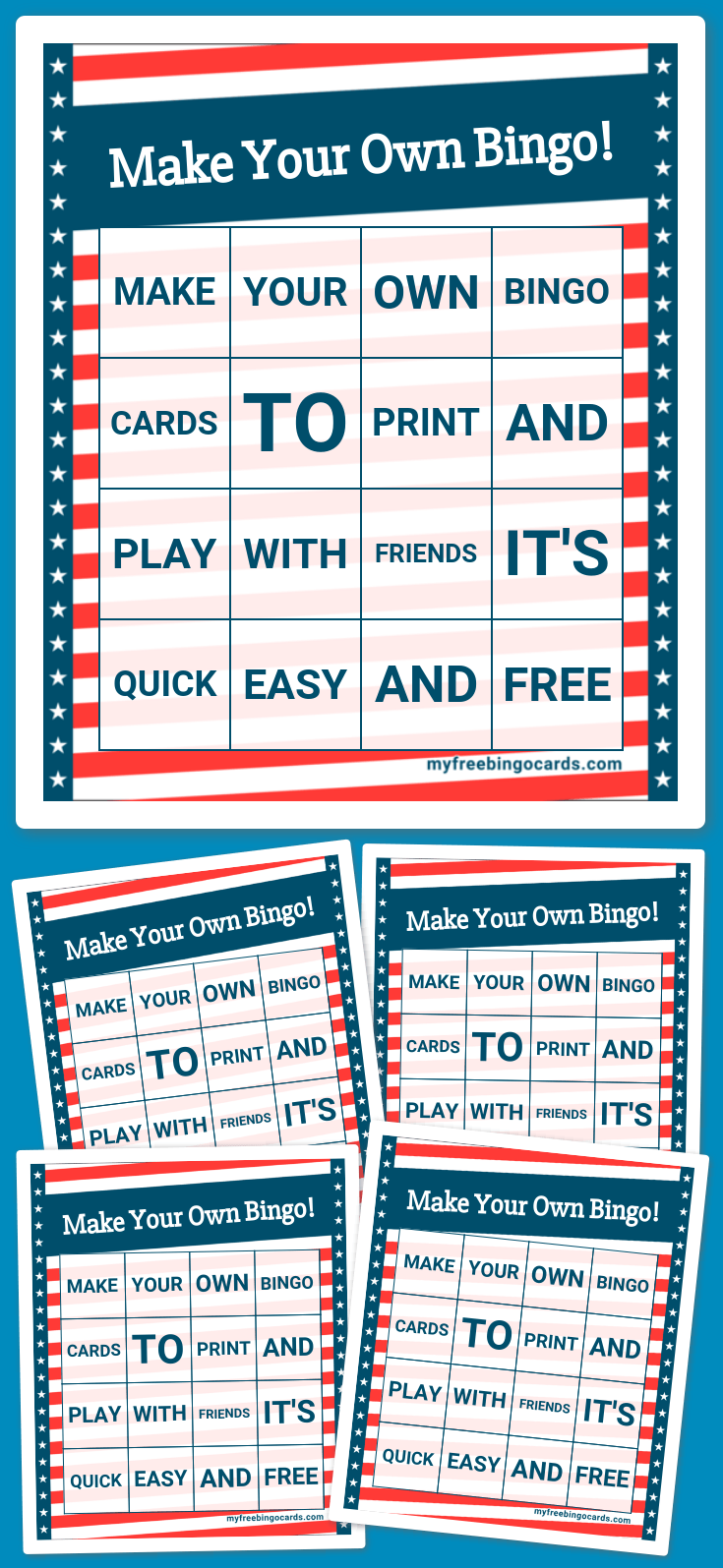 Stars and Stripes Bingo Theme