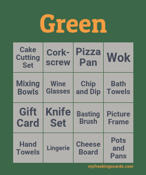Green Bingo Theme
