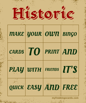 Historic Bingo Theme
