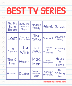 BEST TV SERIES BINGO