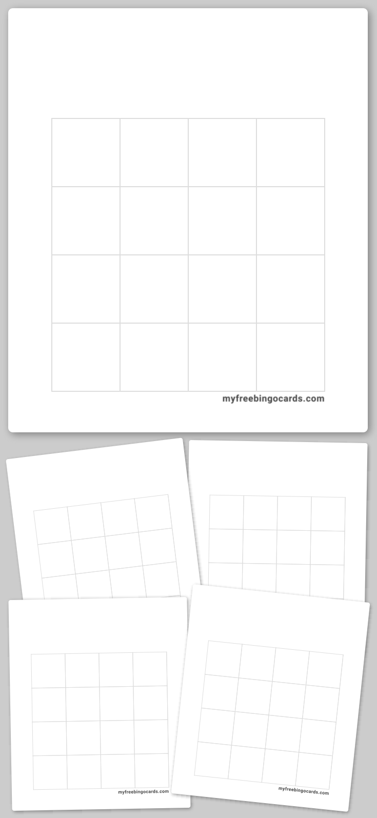 Ink Saver Bingo Template