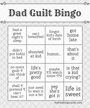 Dad Guilt Bingo