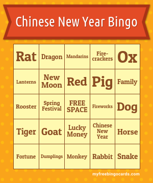 Chinese New Year Bingo