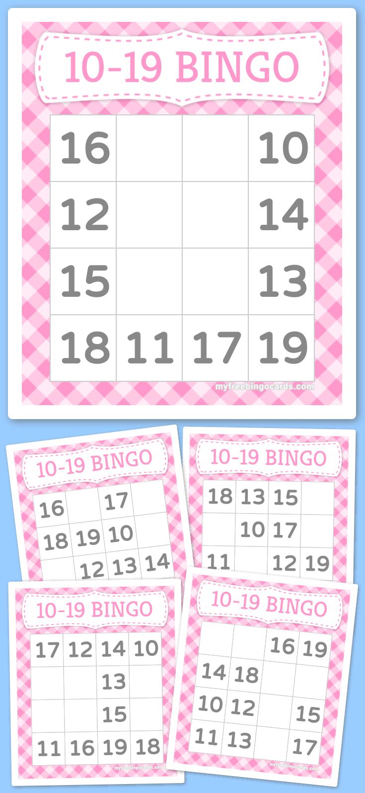 Kids 10-19 Bingo